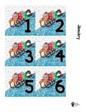 Eric Carle Inspired Daily Calendar Numbers