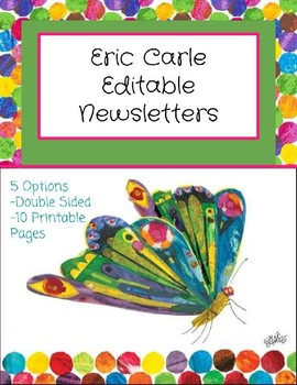 Eric Carle Inspired Editable Newsletter Template