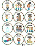 Eric Carle Inspired Job Labels