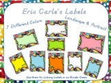 Eric Carle Inspired Labels/Binder Covers