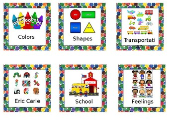 Eric Carle Inspired Library Labels