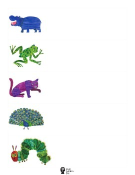 Eric Carle Inspired Name Tags (BLANK)