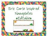 Eric Carle Inspired Classroom - Nameplates