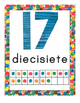 Eric Carle Inspired Classroom - Number Posters 0-30 - Spanish