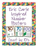 Eric Carle Inspired Classroom - Number Posters Counting by Tens