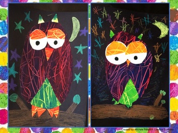 Eric Carle Inspired Owls