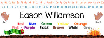 Eric Carle Inspired Classroom - Primary Name Plates or Desk Tags