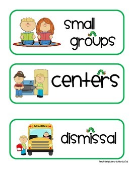Eric Carle Inspired Schedule Cards
