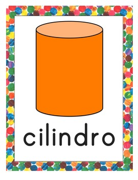 Eric Carle Inspired Classroom - Shape Posters - Spanish
