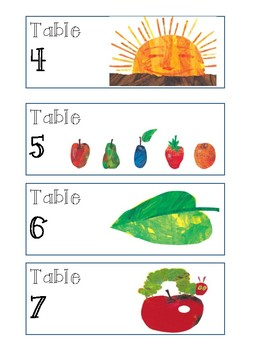 Eric Carle Inspired Table Supply Labels