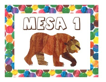 Eric Carle Inspired Classroom - Table and Group Signs - SPANISH