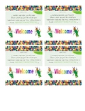 Eric Carle Inspired Welcome Bag Labels