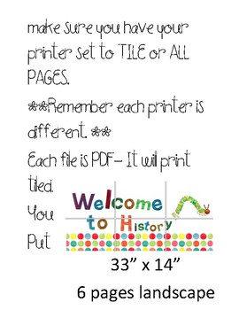 Eric Carle Inspired Welcome Signs - Grades and Subjects