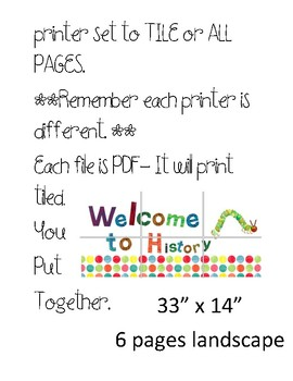 Eric Carle Inspired Welcome Subject Signs