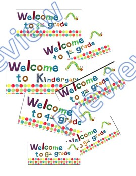 """Eric Carle Inspired """"Welcome"""" signs"""