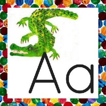 Eric Carle Letter Cards with Animals