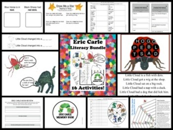 Eric Carle Literacy Bundle: 20 Language Arts Activities!