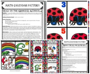 Eric Carle Math Calendar Pattern Bundle (4 Different Patterns Included)