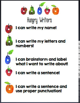 Eric Carle Themed Math and Writing Tracker