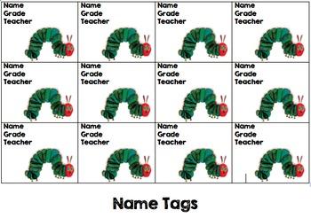 Eric Carle Name Tags