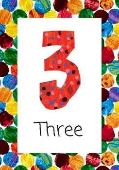 Eric Carle Number Cards