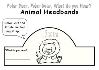 Eric Carle Polar Bear, What Do You Hear?--Animal Headbands