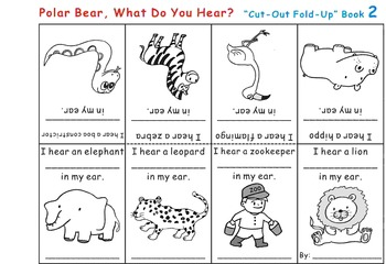 Cut-Out Fold-Up Book: Eric Carle Polar Bear, What Do You Hear?
