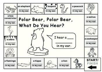 Eric Carle Polar Bear What Do You Hear?--Game Board