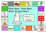 Eric Carle Polar Bear What Do You Hear?--Game Board