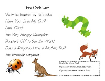Eric Carle Read Aloud Activities