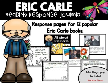 Eric Carle Reading Response Journal--Author Study for K-2