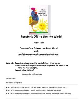 Eric Carle Rooster's Off to See the World Read Aloud with Math Counting Response