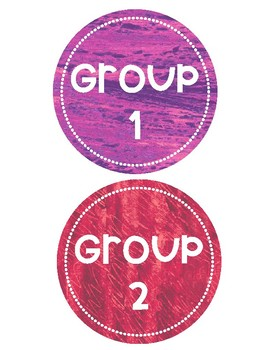 Eric Carle Table and Group Labels