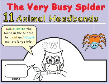 Eric Carle The Very Busy Spider-Animal Headbands