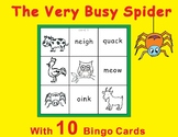 The Very Busy Spider Eric Carle-Tic Tac Toe Bingo Game Cards