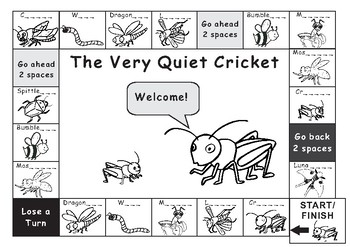 Eric Carle The Very Quiet Cricket Game Board
