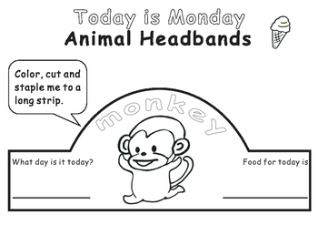 Eric Carle Today is Monday--Animal Headbands
