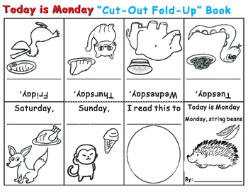 Cut-Out Fold-Up Book: Eric Carle Today is Monday