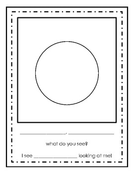 Eric Carle: What Do You See - Class Book Template