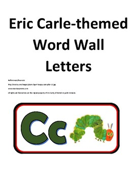 Eric Carle Word Wall Letters