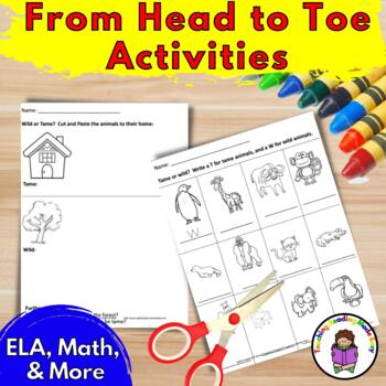 From Head to Toe worksheets:  Eric Carle inspired Lesson Plans