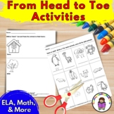 Activities to go along with From Head to Toe by Eric Carle