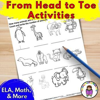 activities to go along with from head to toe by eric carle tpt. Black Bedroom Furniture Sets. Home Design Ideas