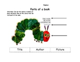 Eric Carle parts of a book worksheet