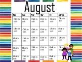 "Eric Carle's ""Brown bear"" Monthly Calendar"