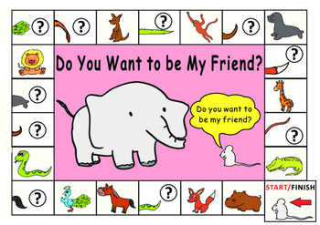 Do you want to be my friend? Eric Carle: Game Board