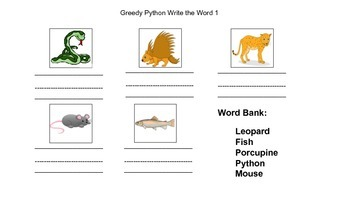 Eric Carle's The Greedy Python HUGE ACTIVITIES PACK (CCSS aligned)