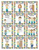 Eric Carle themed Classroom Jobs