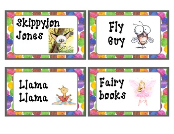 Eric Carle themed Classroom Library Book Labels, Upper Elem.