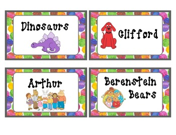 Eric Carle themed Classroom Library Book Labels